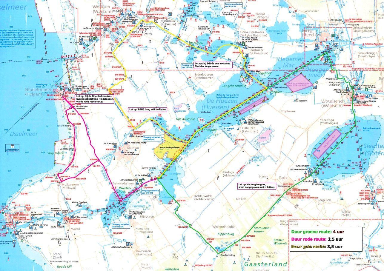 Waterkaart - ZuidWest Friesland